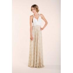 Gala Vintage Lace Overlay Skirt