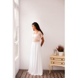 Vestido de Novia Gala Encaje Rosa