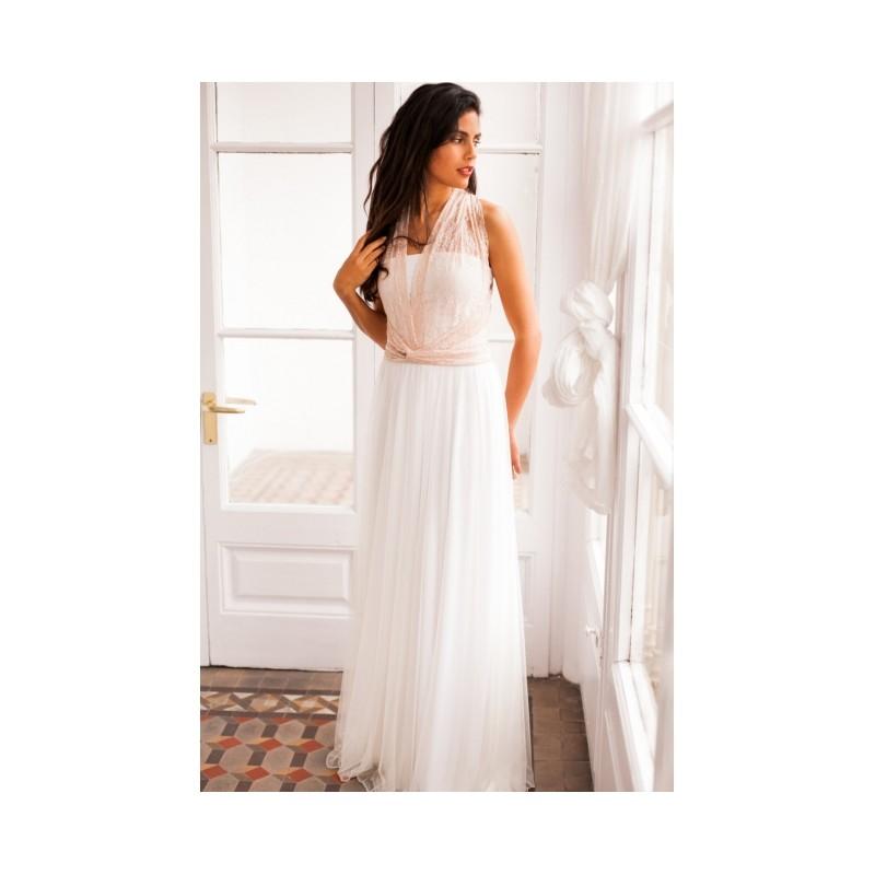 40c2814f1 Vestido Novia Gala Encaje Rosa Falda Tul - Garbo Moda