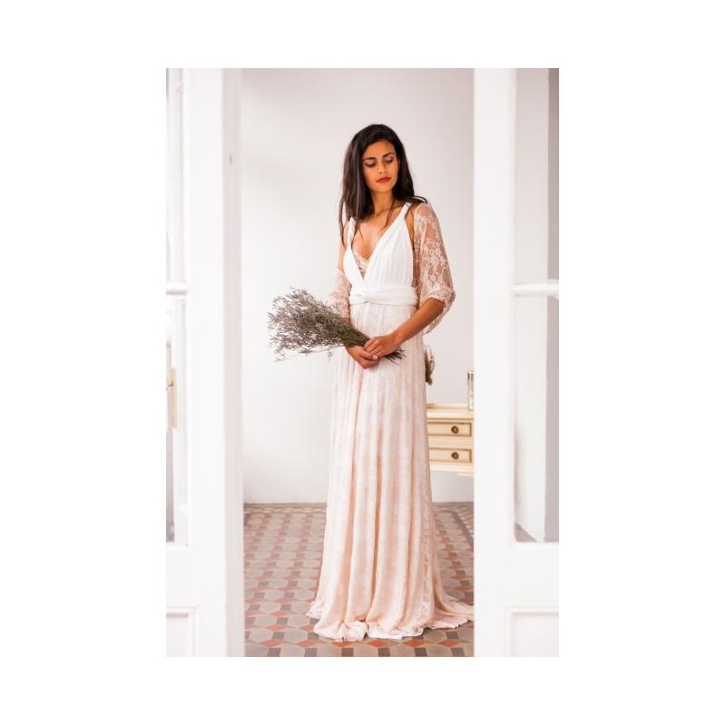 falda rosa moda vestido encaje novia de garbo con gala h8ywqzunwi